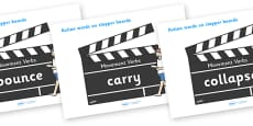 Action Words Verbs (on Clapper Boards)