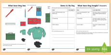 What Have They Bought? (3) Inferences Activity Sheet