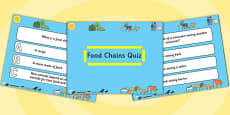 Science Food Chains PowerPoint Quiz