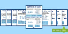 Multiplying and Dividing by 10, 100 and 1000 (Including Decimals) Display Posters -