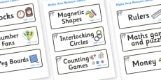 Zebra Themed Editable Maths Area Resource Labels