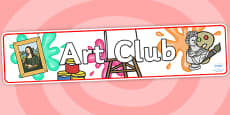 Art Club Display Banner