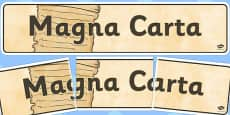 The Magna Carta Display Banner