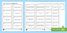 English Reformation Challenge Cards