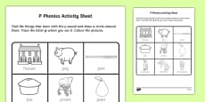 p Phonics Activity Sheet