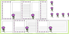 Thistle Page Borders