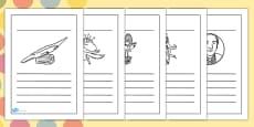 Roald Dahl Themed Writing Frames