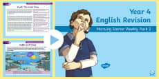 Year 4 English Revision Morning Starter Weekly PowerPoint Pack 2