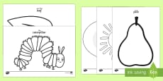 Colouring Sheets to Support Teaching on The Very Hungry Caterpillar Arabic/English
