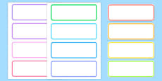 Editable Drawer - Peg - Name Labels (Blank)