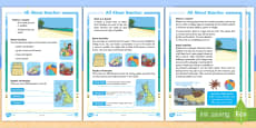 * NEW * KS1 All About Beaches  Differentiated Fact File