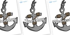 Days of the Week on Anchors