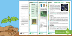 Earth Day Differentiated Reading Comprehension Activity