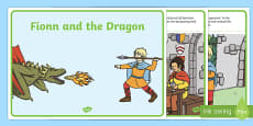 Fionn and the Dragon Sequencing Cards 1 per A4