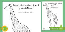 * NEW * Ficha de discriminación visual y auditiva: La letra J