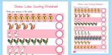Australia - Chicken Licken Counting Sheet
