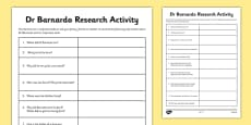 Dr Barnardo Research Activity