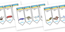 Editable Under the Sea Bookmarks