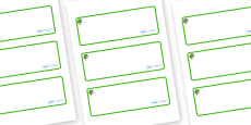 Sycamore Themed Editable Drawer-Peg-Name Labels (Blank)