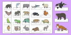 Editable Self Registration Labels (Animals)