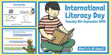 International Literacy Day 2015 PowerPoint