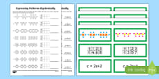 Year 6 Algebra Express Patterns Algebraically Resource Pack