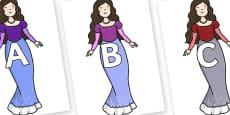 A-Z Alphabet on The Little Mermaid