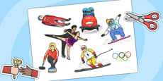 Winter Olympics Cut Outs