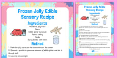 Frozen Jelly Edible Sensory Recipe
