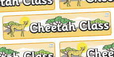 Cheetah Themed Classroom Display Banner