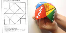 Australia - Chinese New Year Blank Paper Fortune Teller Template