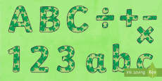 St Patrick's Day Display Lettering