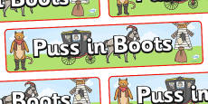 Puss in Boots Display Banner