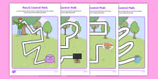 Not Right Now Pencil Control Path Activity Sheets