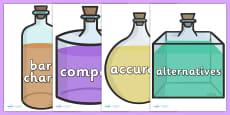 Scientific Vocabulary On Beakers