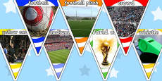 Football World Cup Display Photo Bunting