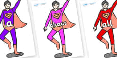 100 High Frequency Words on Superheroes (Multicolour)