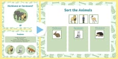 Living Things and their Habitats Herbivore or Carnivore Lesson Teaching Pack Notebook