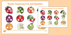 Number Sequencing Fruit and Vegetables