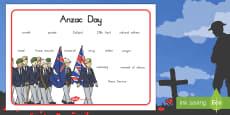 Australia - Anzac Day Word Mat