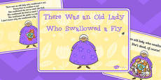 There Was an Old Lady Who Swallowed a Fly Sequencing Story Cards