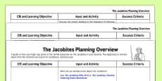The Jacobites Planning Overview