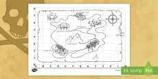 * NEW * Mappa del tesoro dei pirati Attività