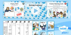PlanIt Y2 Fractions Reasoning About Fractions Lesson Pack