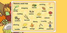 Autumn Word Mats