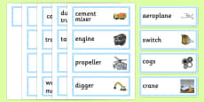 Machines Topic Word Cards