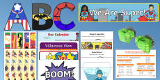 Superhero Theme Back to School Resource Pack