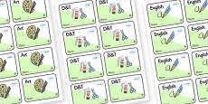 Ash Tree Themed Editable Book Labels