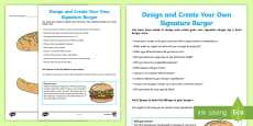 Design and Create a Burger Activity