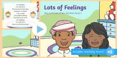 Lots of Feelings Song PowerPoint